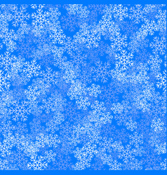 showflakes pattern on blue sky background vector image