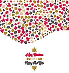 Christmas background with icons vector image vector image