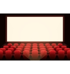 Cinema with white screen vector