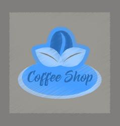 flat shading style icon coffee shop logo vector image