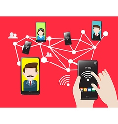 Mobile technology cellular communication vector image vector image