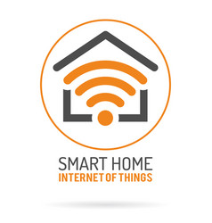 smart home and internet of things logo vector image