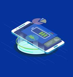 smartphone wireless charging vector image