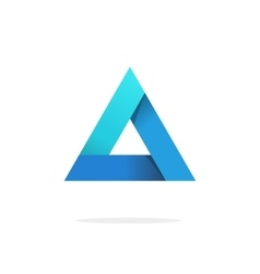 Triangle logo with strict corners isolated vector image vector image