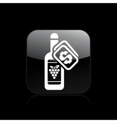 wine price icon vector image vector image