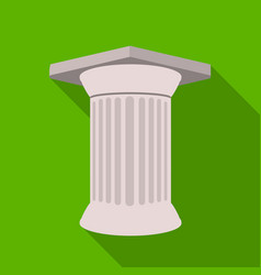 antique column icon in flat style isolated on vector image
