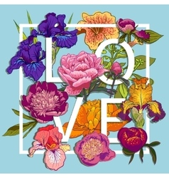 Floral Love Graphic Design vector image
