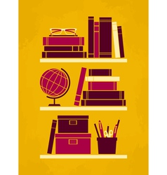 retro office poster vector image