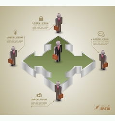 Template for business concept vector image vector image