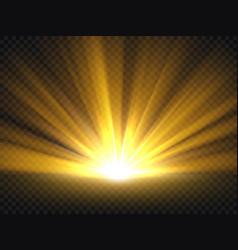 abstract golden bright light gold shine burst vector image