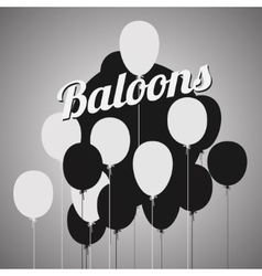 balloons poster vector image vector image