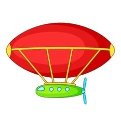 Dirigible icon cartoon style vector