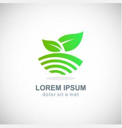 organic nature green leaf logo vector image