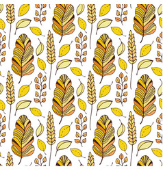 pattern with autumn leaves seasonal seamless vector image vector image