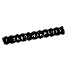 1 year warranty rubber stamp vector