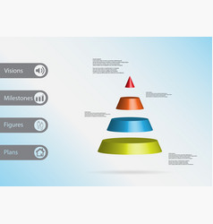 3d infographic template with triangle vector image