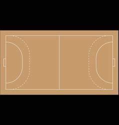 A handball field vector