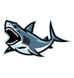 Angry shark logo mascot vector