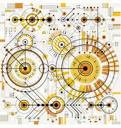 Architectural blueprint digital background vector