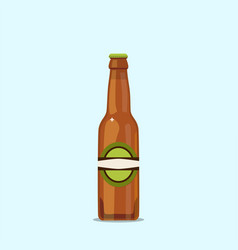 Attractive beer bottle on a blue background vector