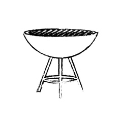 BBQ grill isolated vector