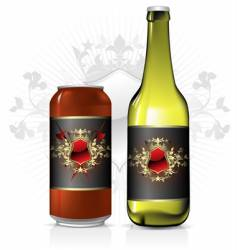 beverage label vector image