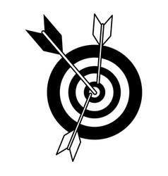 Bullseye oe dartboard icon image vector