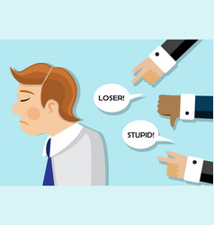 businessmen are scolded and he is sad vector image