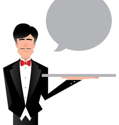 Butler Cartoon vector image