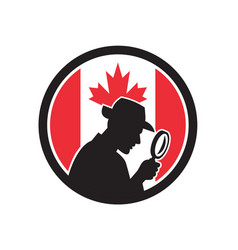 Canadian private investigator canada flag icon vector