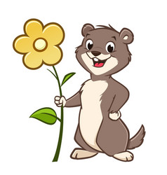 cartoon gopher vector image