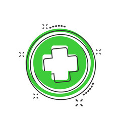 cartoon medical health icon in comic style vector image