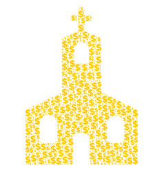 christian church collage of dollar and dots vector image