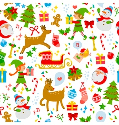 colorful christmas pattern vector image
