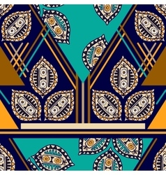 Colorful seamless ethnic pattern Decorative vector image