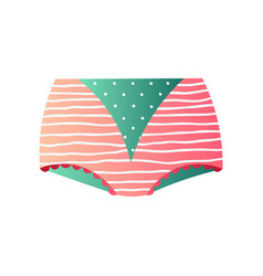 Cute retro maxi panties in modern design isolated vector