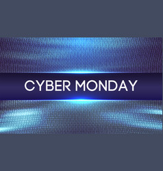 Cyber monday background binary code sale concept vector