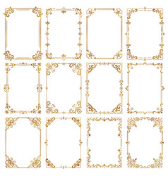 decorative vintage frames certificate ornamental vector image