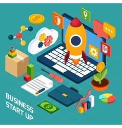 Digital Marketing Isometric Concept vector