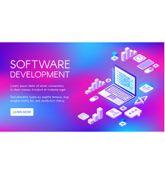 Digital software development vector