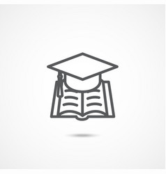 education sign icon vector image