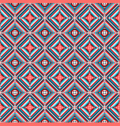 Ethnic rhombus seamless pattern vector