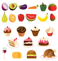 food-set vector image