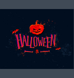 for holiday halloween orange pumpkin and vector image