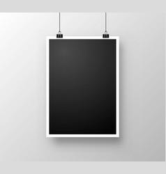 foto frame hang vector image