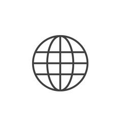 Globe template design vector
