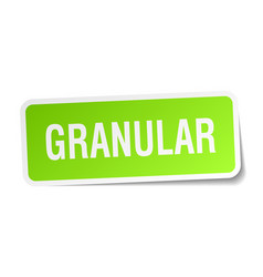 Granular square sticker on white vector