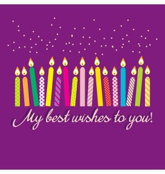 greeting with candles vector image