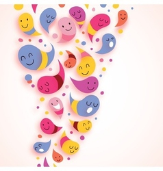 Happy abstract characters colorful background vector