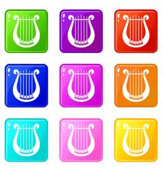 Harp set 9 vector